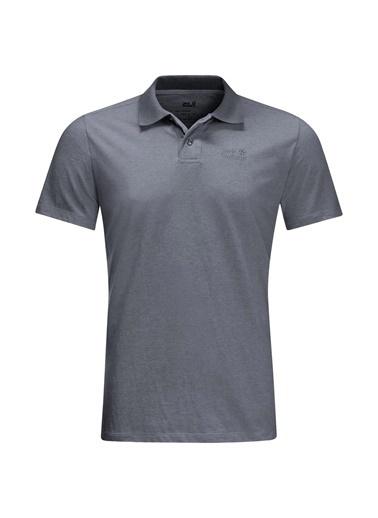 Jack Wolfskin Pokut Polo Erkek T-Shirt - 5022181-6505 Gri